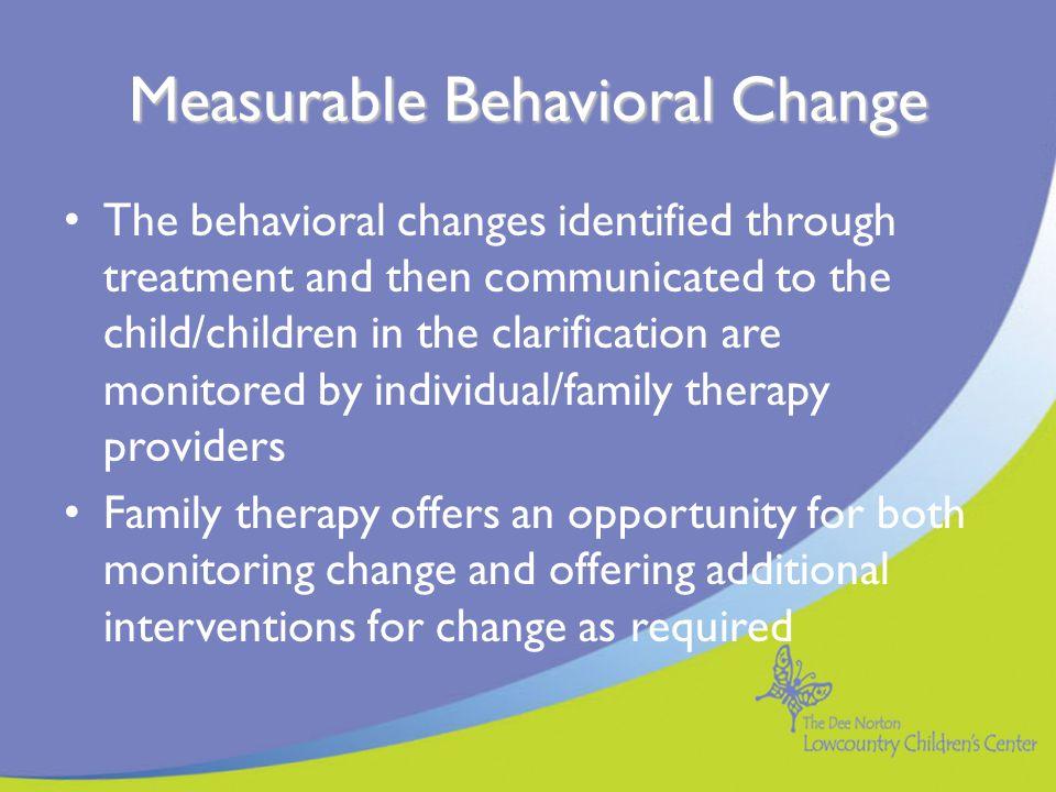Measurable Behavioral Change