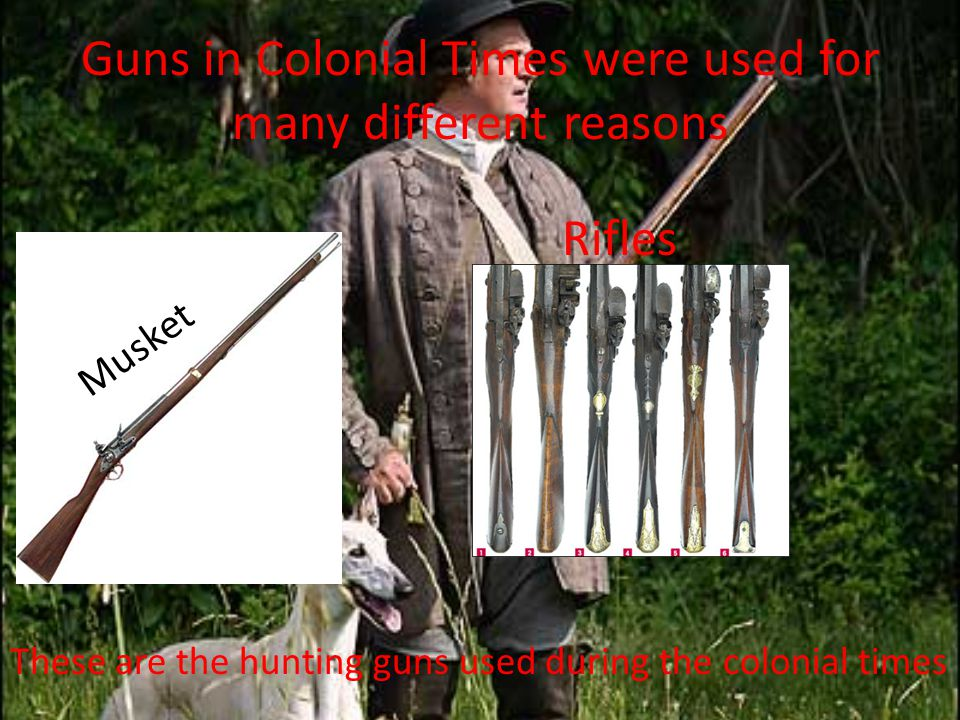 Guns in Colonial Times were used for many different reasons