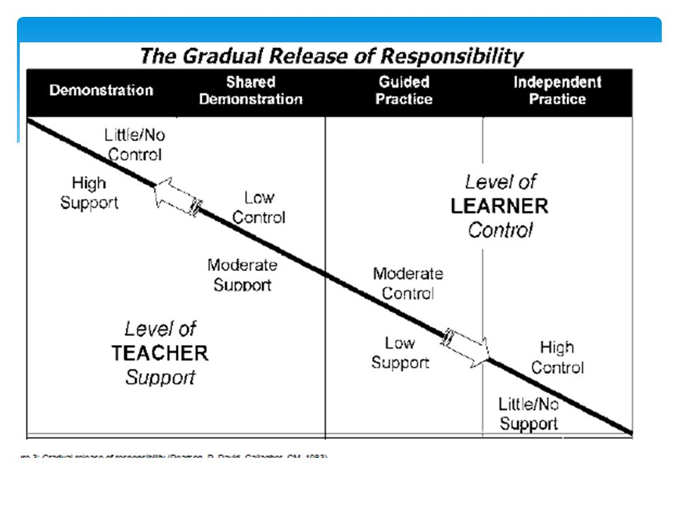 Students need to learn to be independent learners through a gradual release of responsibility