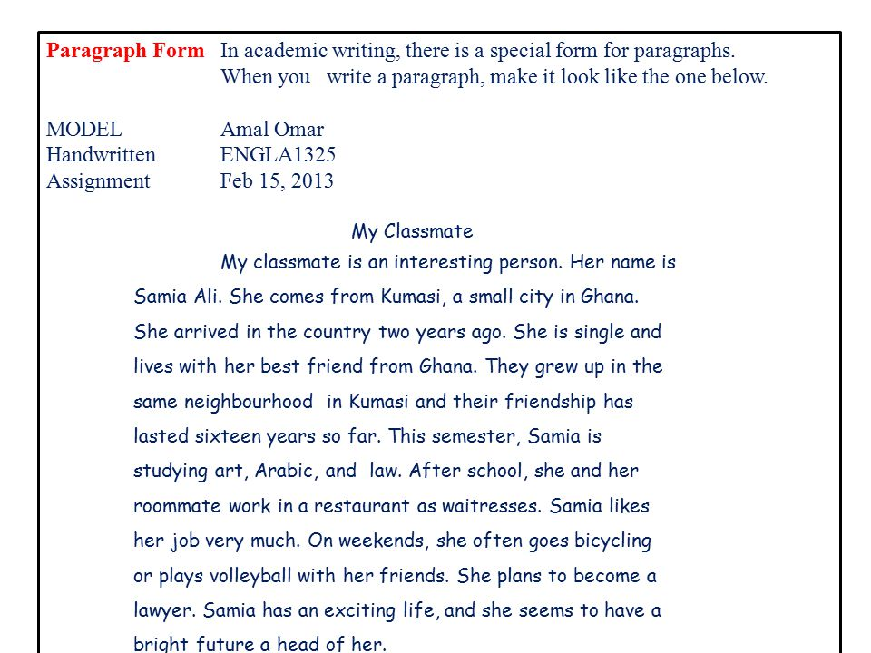 write an essay on my classmate