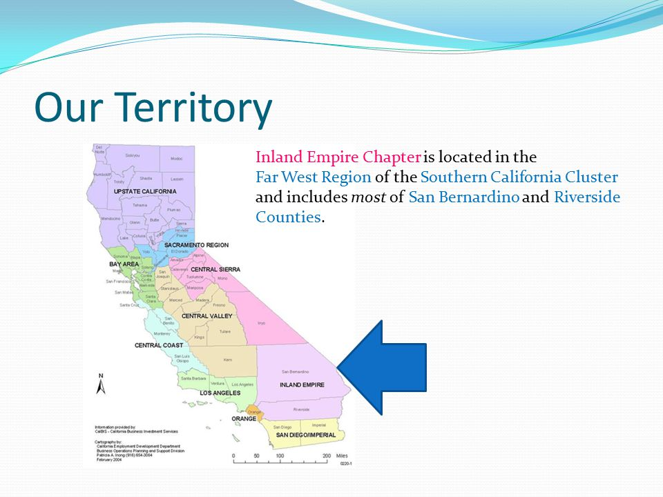 Our Territory Inland Empire Chapter is located in the
