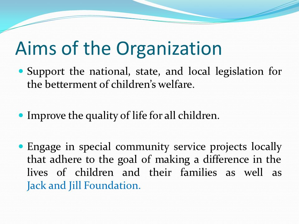Aims of the Organization