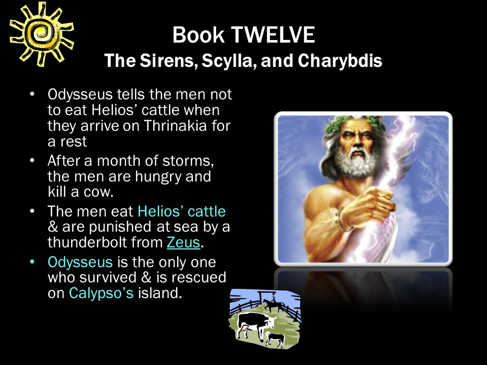 Book TWELVE The Sirens, Scylla, and Charybdis