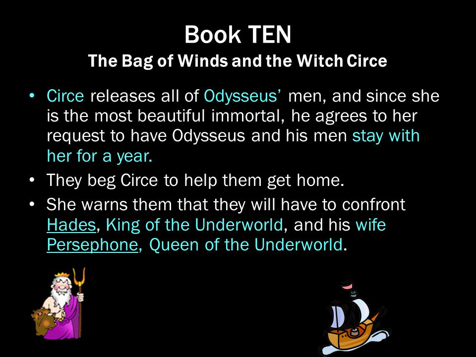 Book TEN The Bag of Winds and the Witch Circe