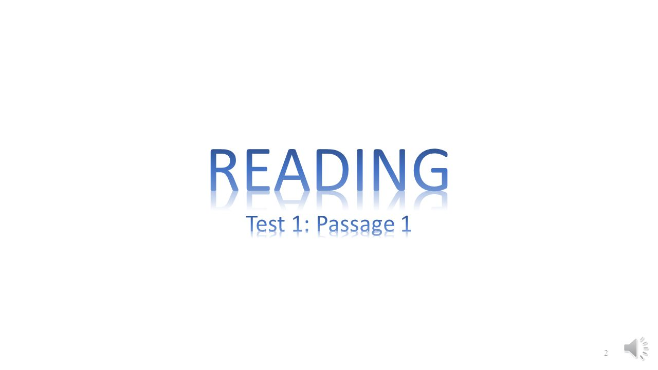 READING Test 1: Passage 1
