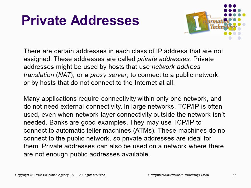 Private Addresses