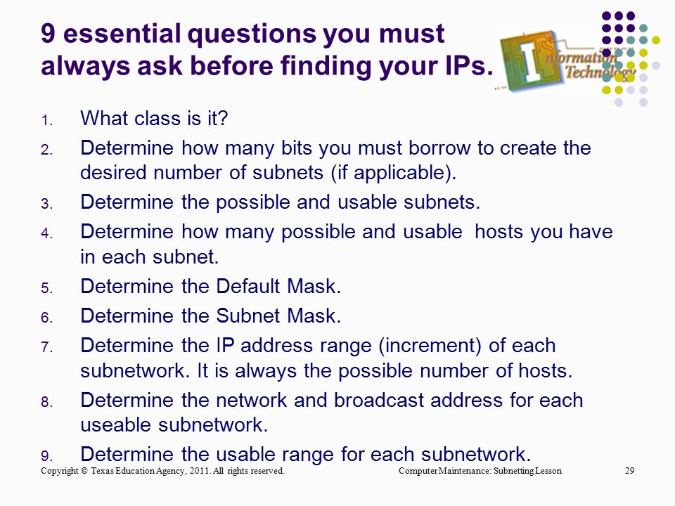 9 essential questions you must always ask before finding your IPs.