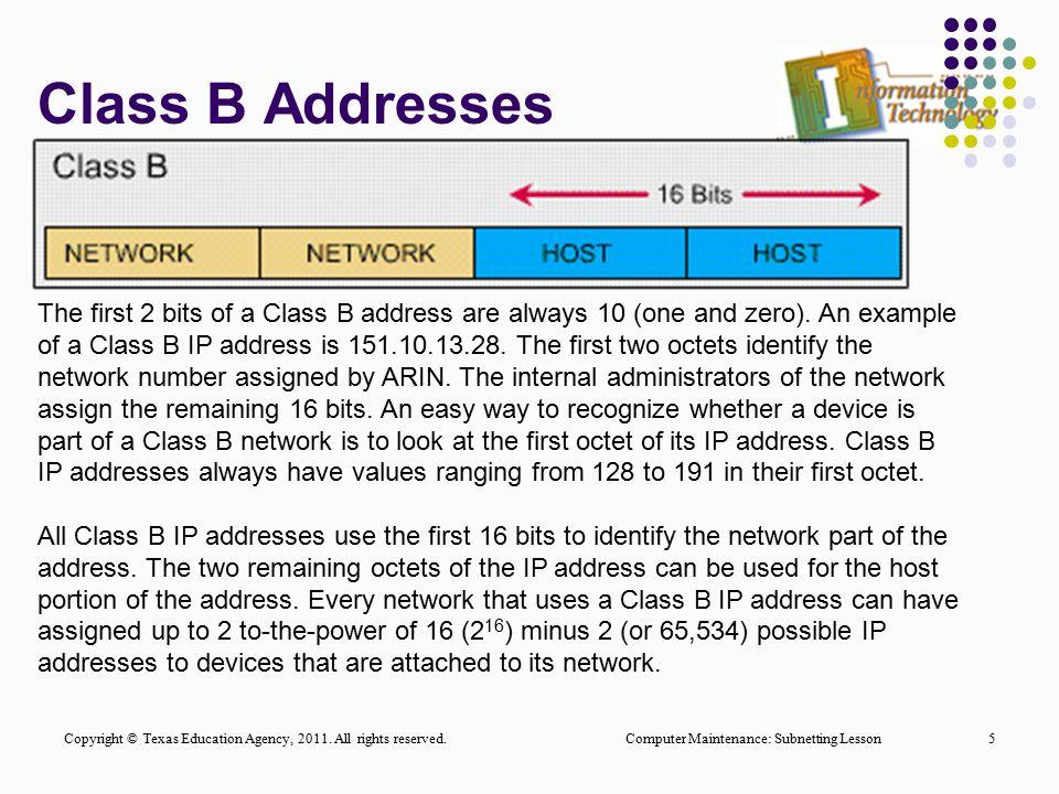 Class B Addresses