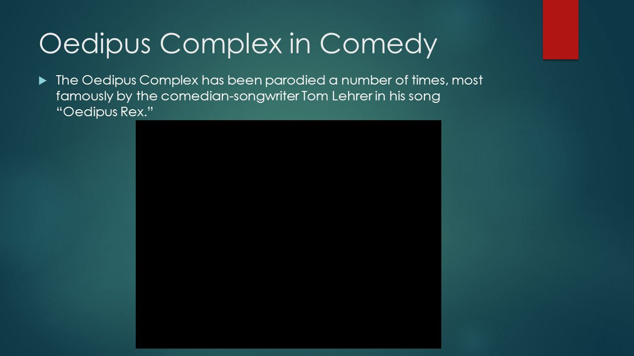 Oedipus Complex in Comedy