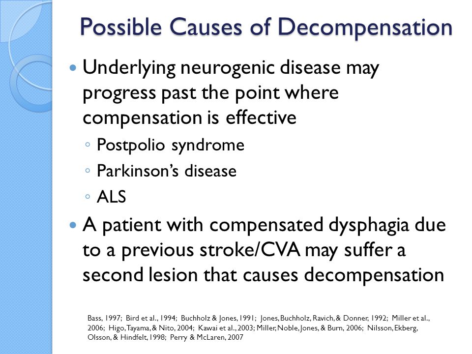 Possible Causes of Decompensation