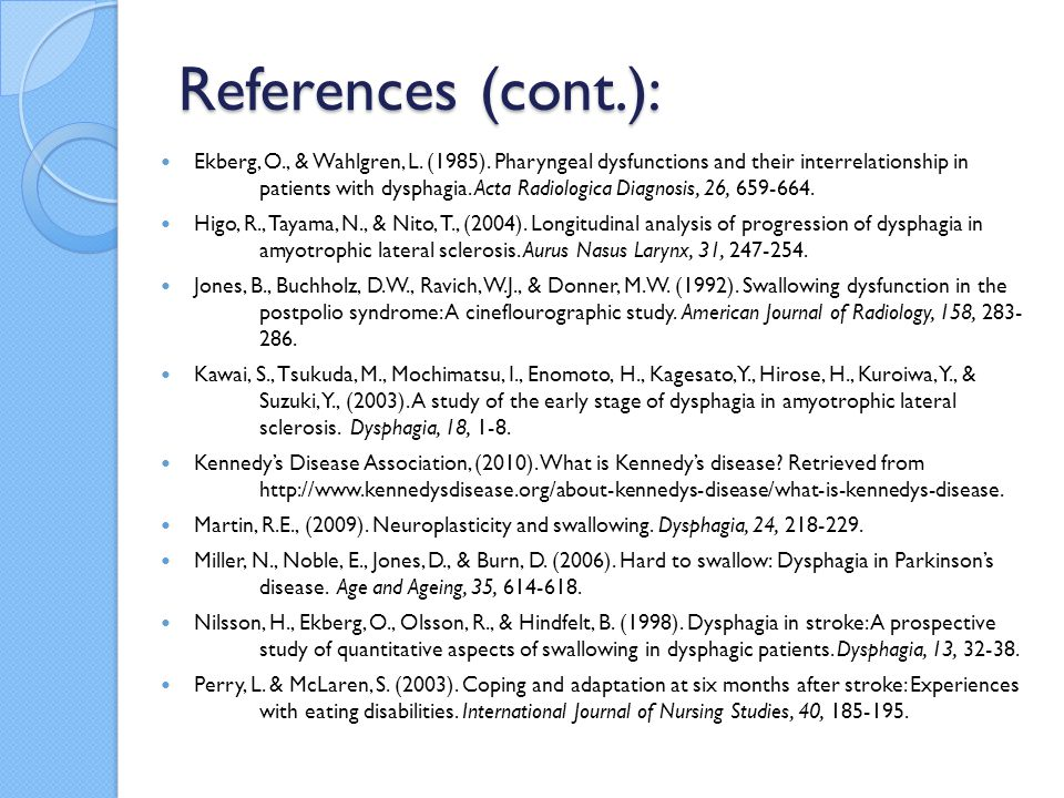 References (cont.):