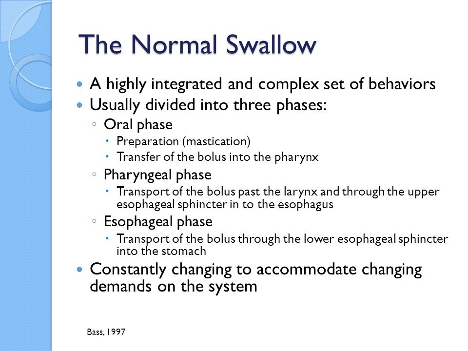 The Normal Swallow A highly integrated and complex set of behaviors