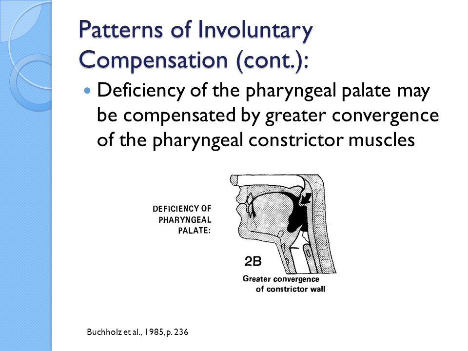 Patterns of Involuntary Compensation (cont.):