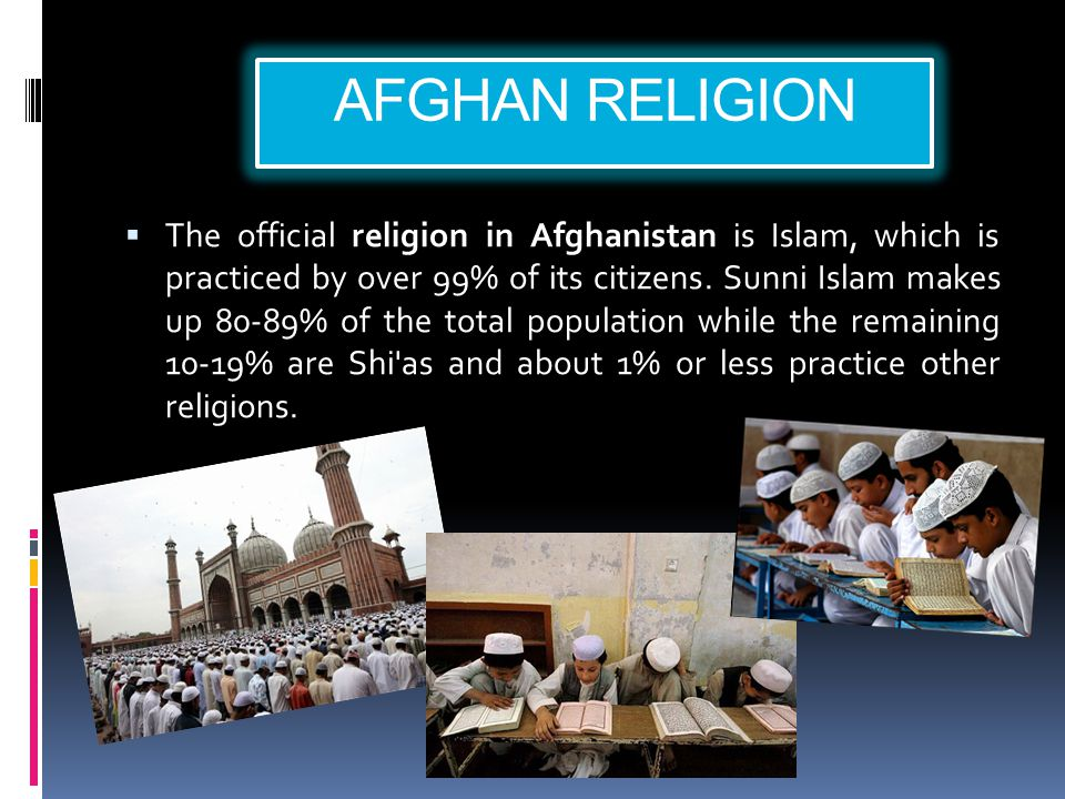 AFGHAN RELIGION