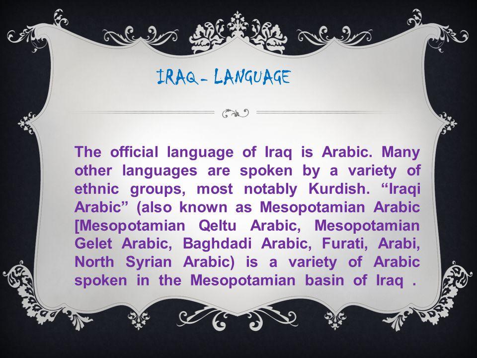 IRAQ - LANGUAGE