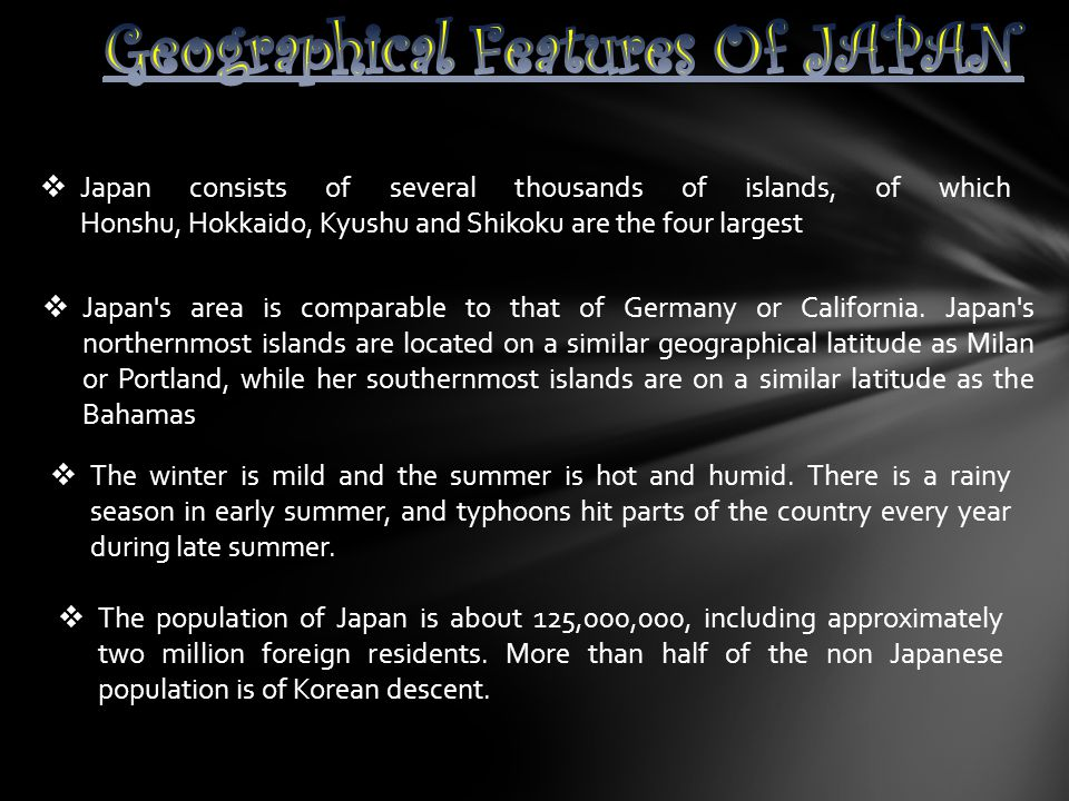 Geographical Features Of JAPAN