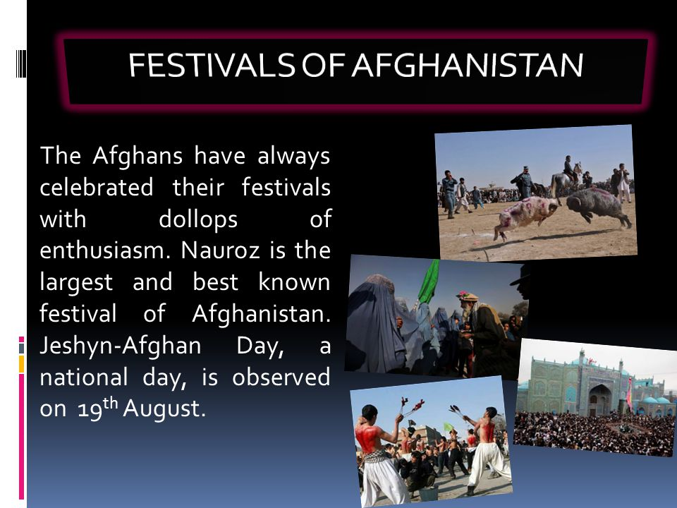 FESTIVALS OF AFGHANISTAN