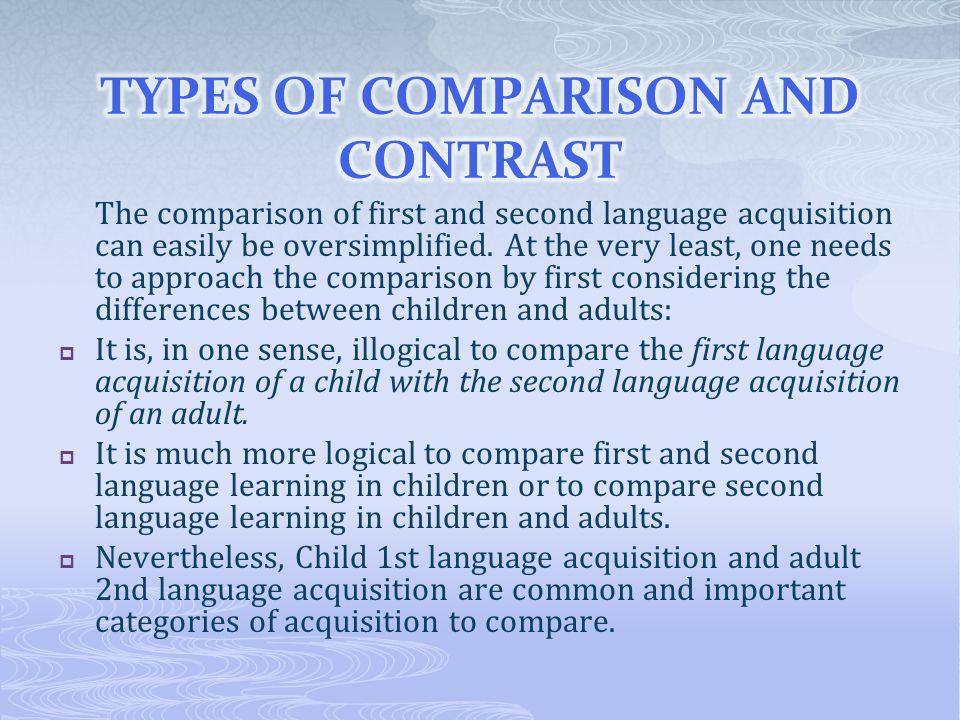 Chapter 3 age and acquisition by marisol barraza ppt Types of contrast