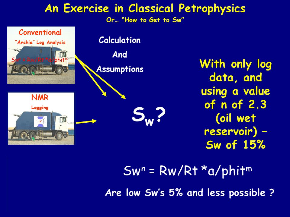 An Exercise in Classical Petrophysics