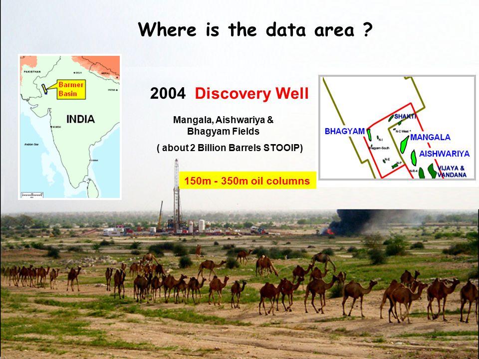 Mangala, Aishwariya & Bhagyam Fields ( about 2 Billion Barrels STOOIP)