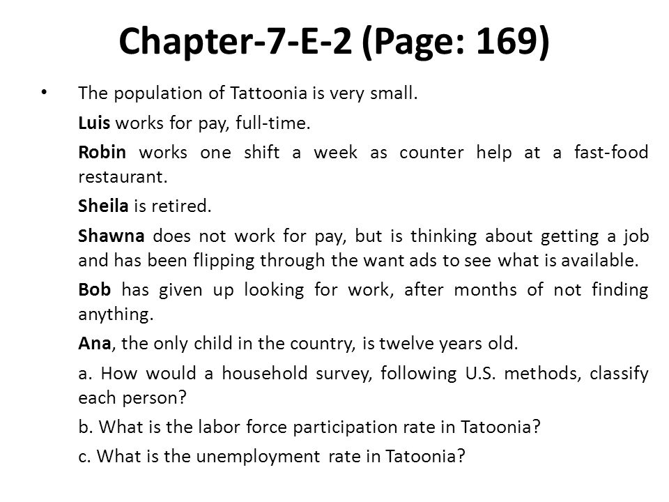 Chapter-7-E-2 (Page: 169) The population of Tattoonia is very small.