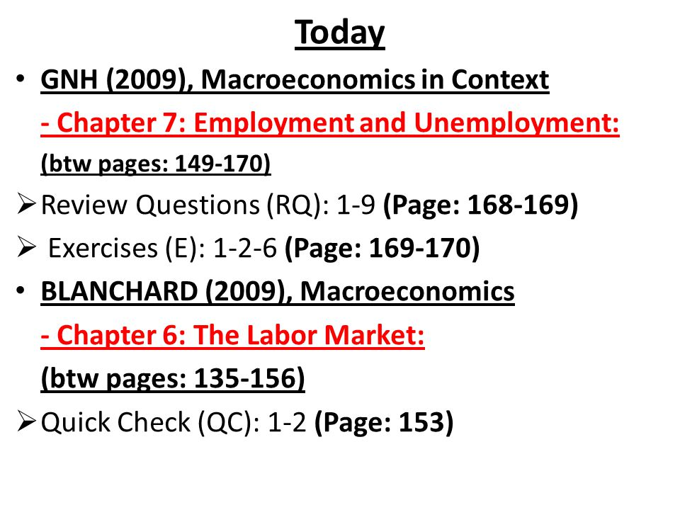 Today GNH (2009), Macroeconomics in Context