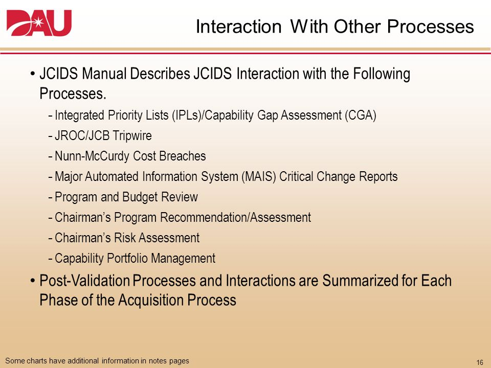 Changes to JCIDS Documents