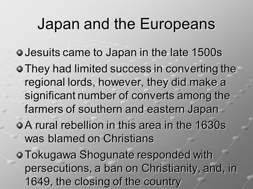 Japan and the Europeans