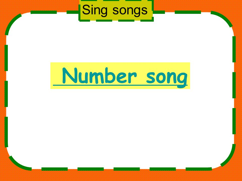 Sing songs Number song
