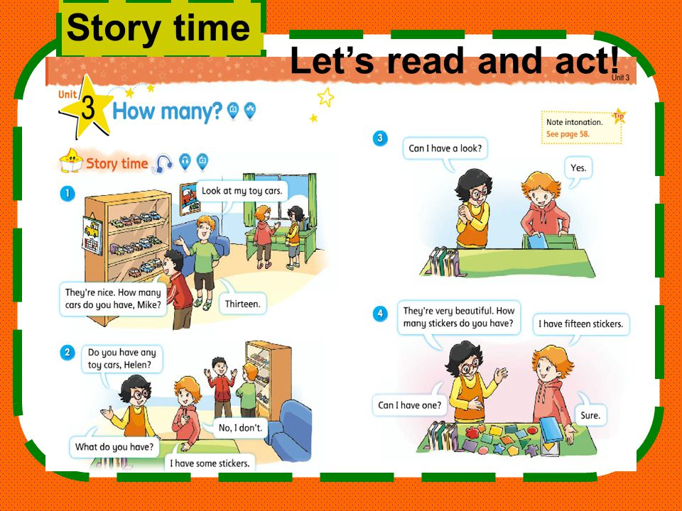 Story time Let's read and act!