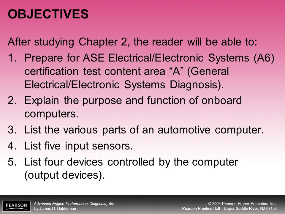 OBJECTIVES After studying Chapter 2, the reader will be able to: