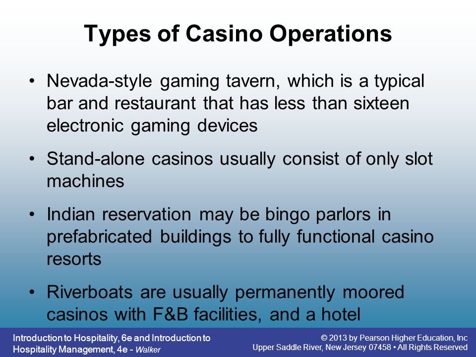 Types of Casino Operations