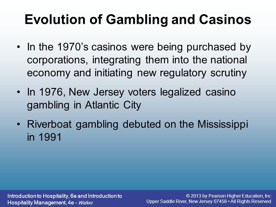 Evolution of Gambling and Casinos
