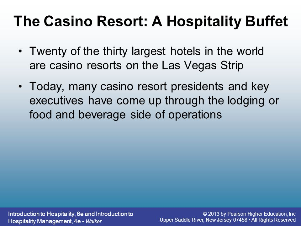 The Casino Resort: A Hospitality Buffet