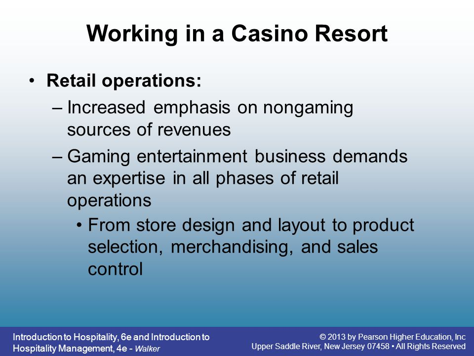 Working in a Casino Resort