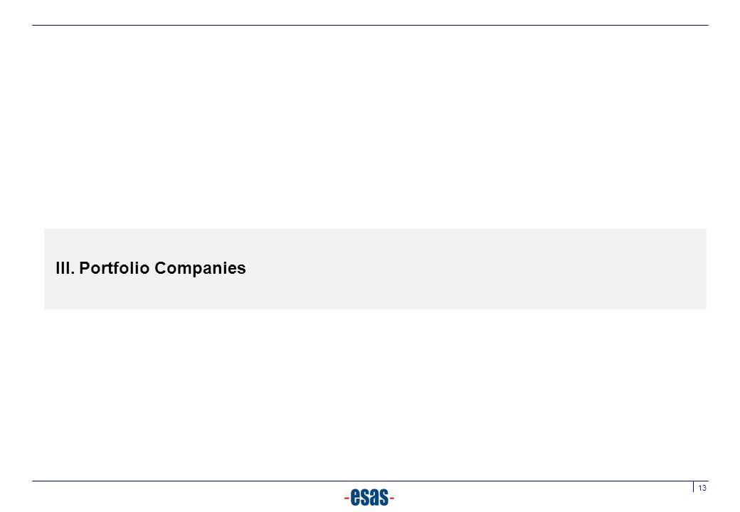 III. Portfolio Companies