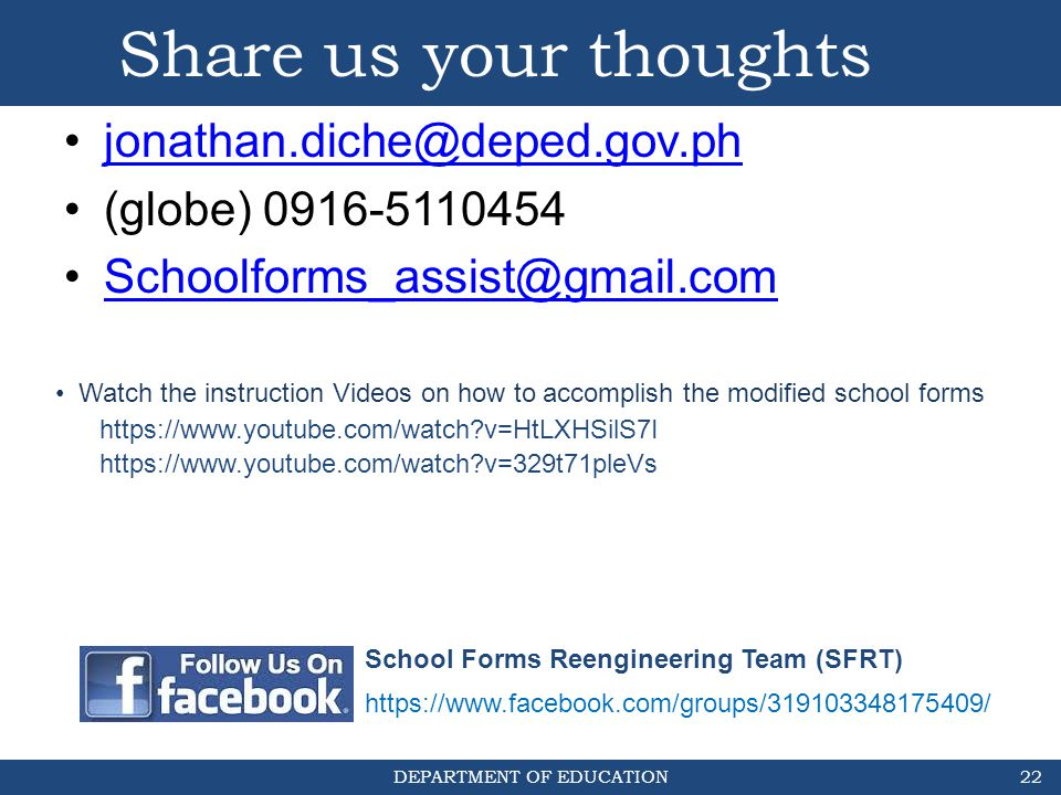 Share us your thoughts jonathan.diche@deped.gov.ph