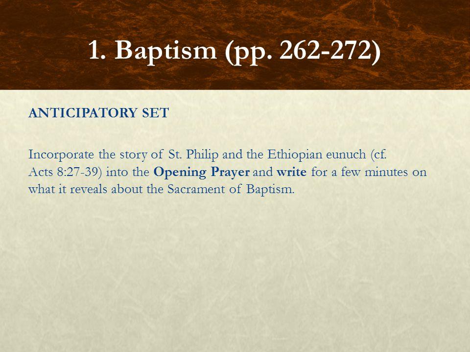 1. Baptism (pp. 262-272)