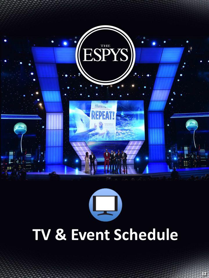 TV & Event Schedule