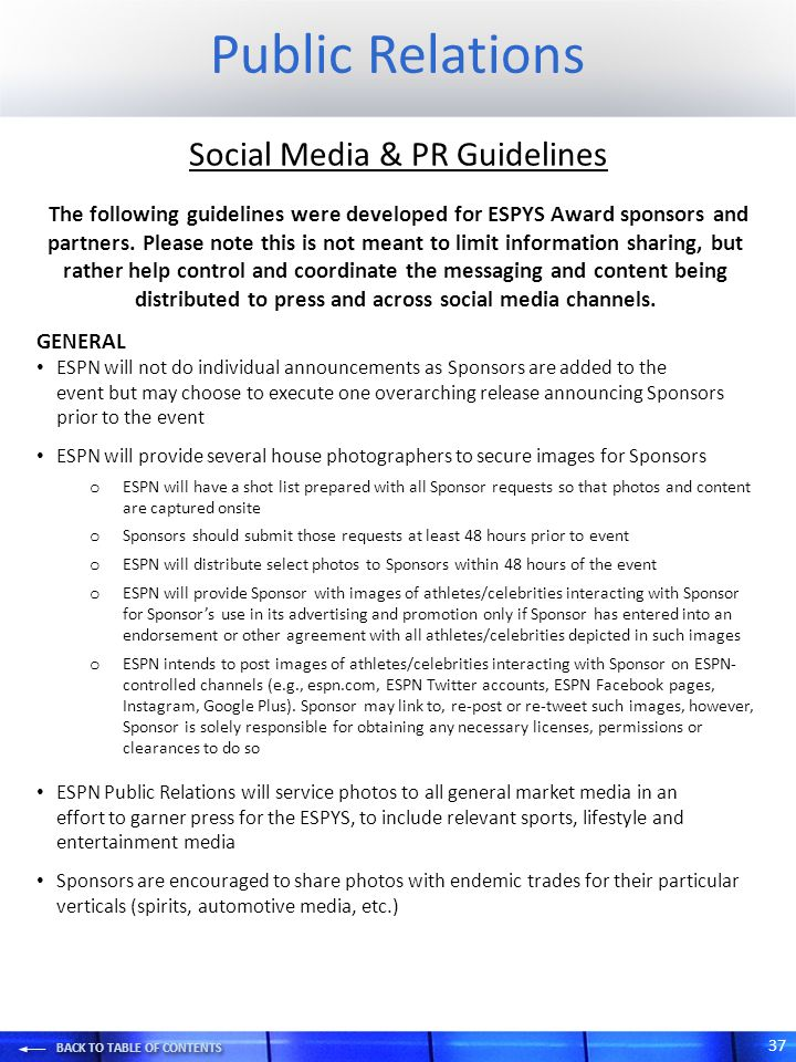 Social Media & PR Guidelines