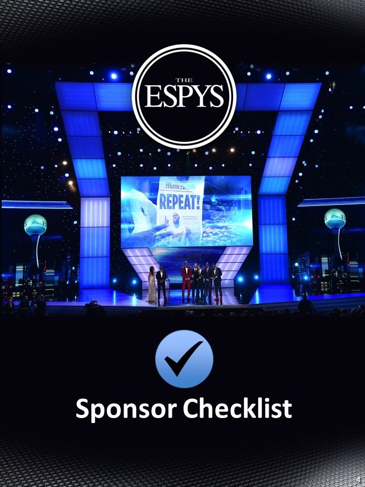 Sponsor Checklist