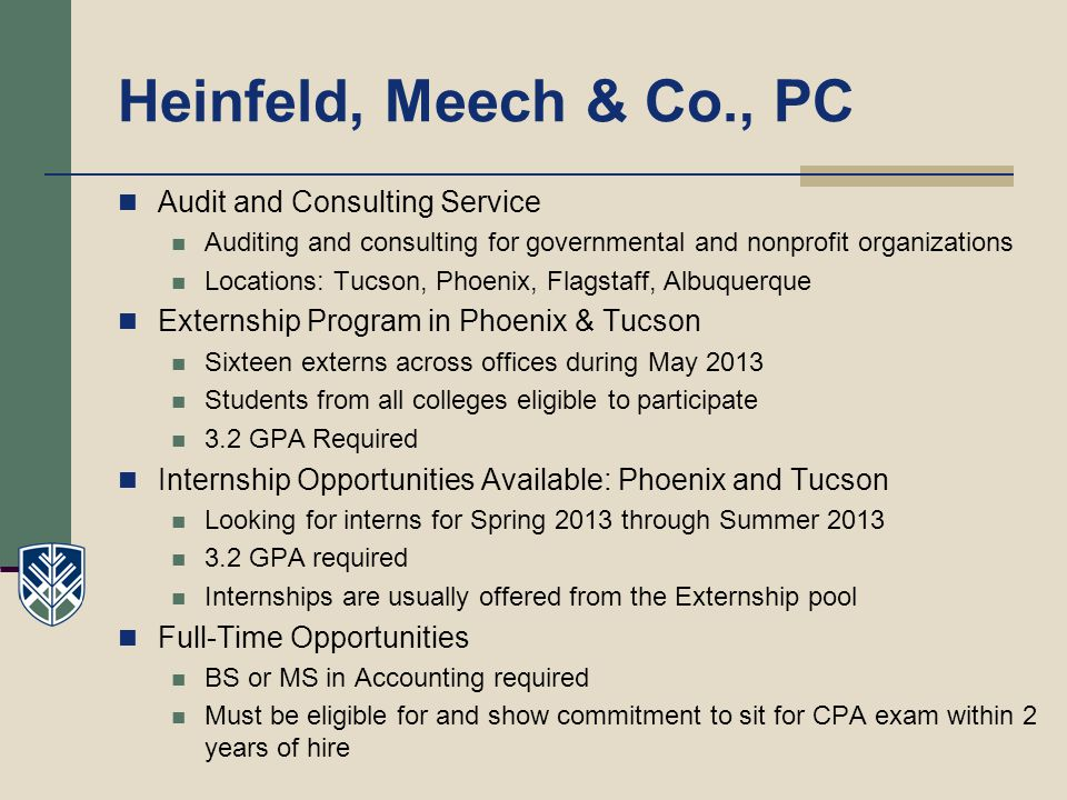 Heinfeld, Meech & Co., PC Audit and Consulting Service