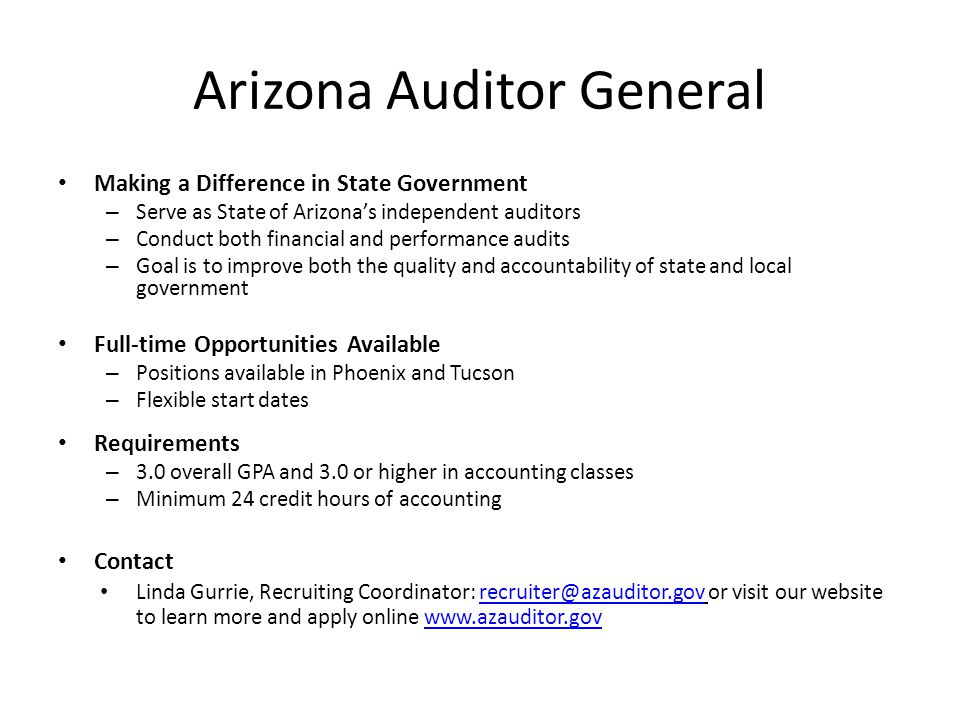 Arizona Auditor General