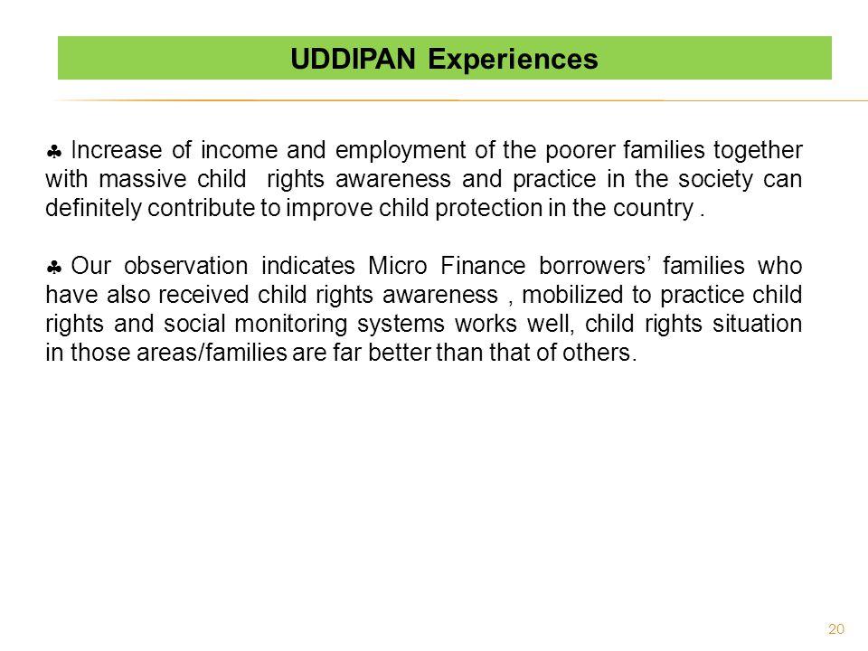 UDDIPAN Experiences