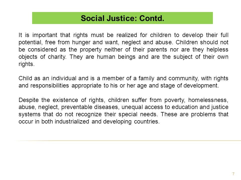 Social Justice: Contd.