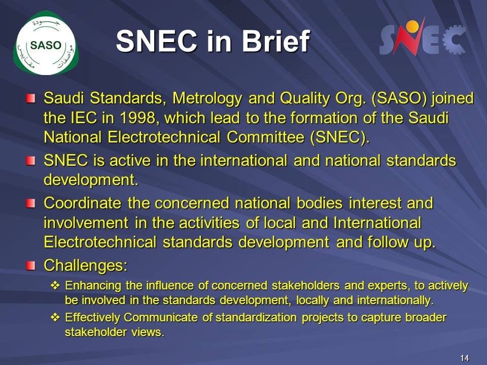 SNEC in Brief