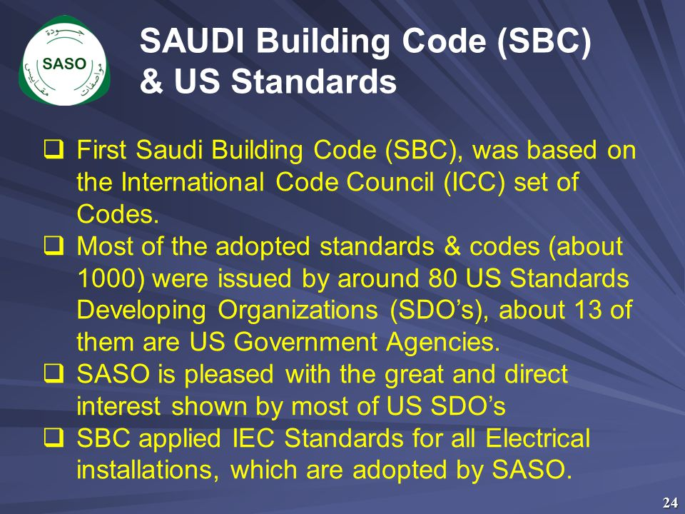 SAUDI Building Code (SBC) & US Standards