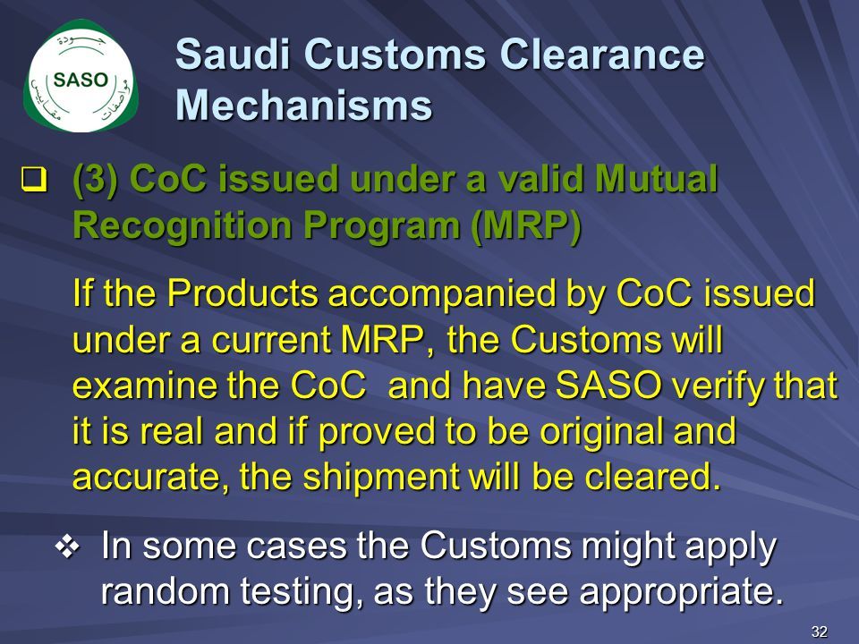 Saudi Customs Clearance Mechanisms