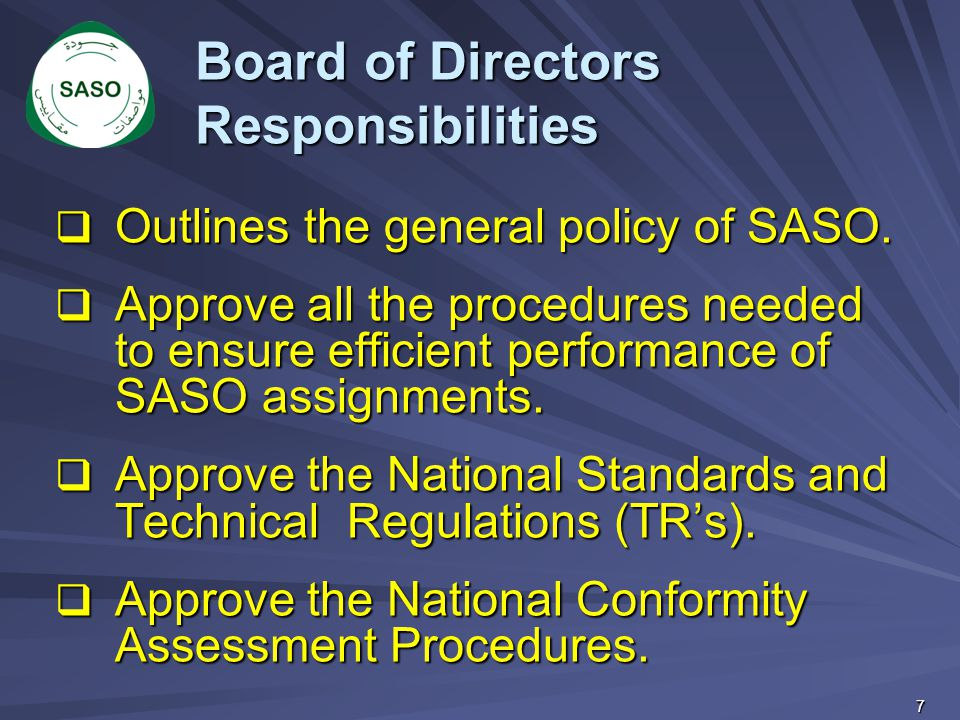 Board of Directors Responsibilities