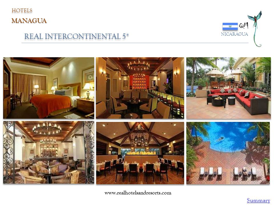 QM REAL INTERCONTINENTAL 5* MANAGUA Summary HOTELS